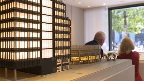 close up of broadgate model
