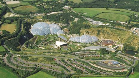 Aerial of the Eden Project