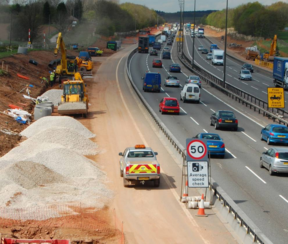 M1 Widening site