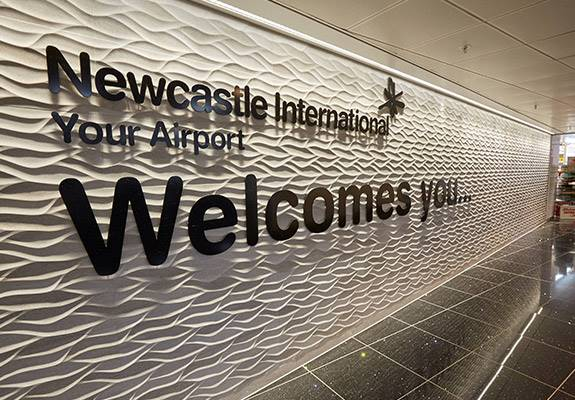 Newcastle International Airport welcome