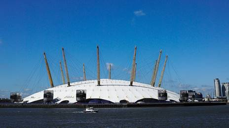 O2 Arena on River Thames
