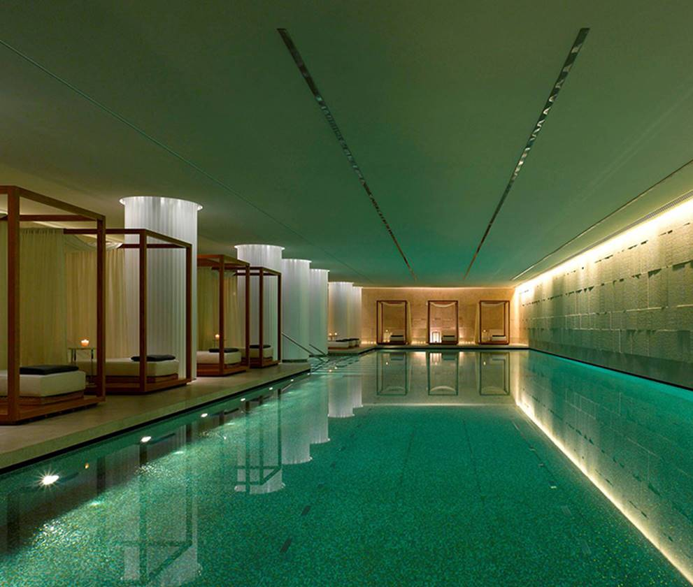 Swimming pool at Bulgari Hotel Spa