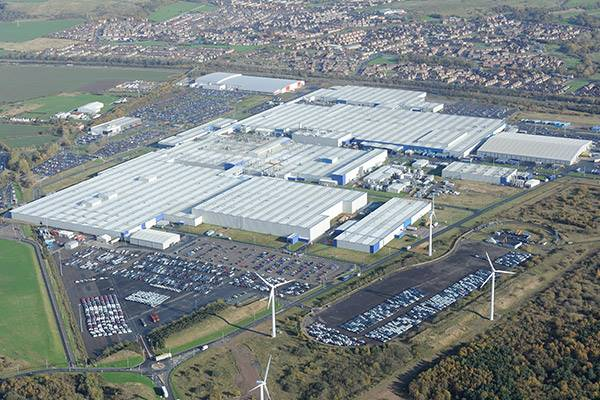 Aerial of Nissan Car Manufacturing site