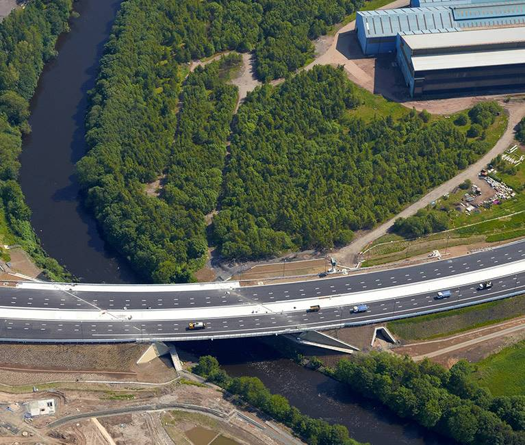 M74 Completion crossing river