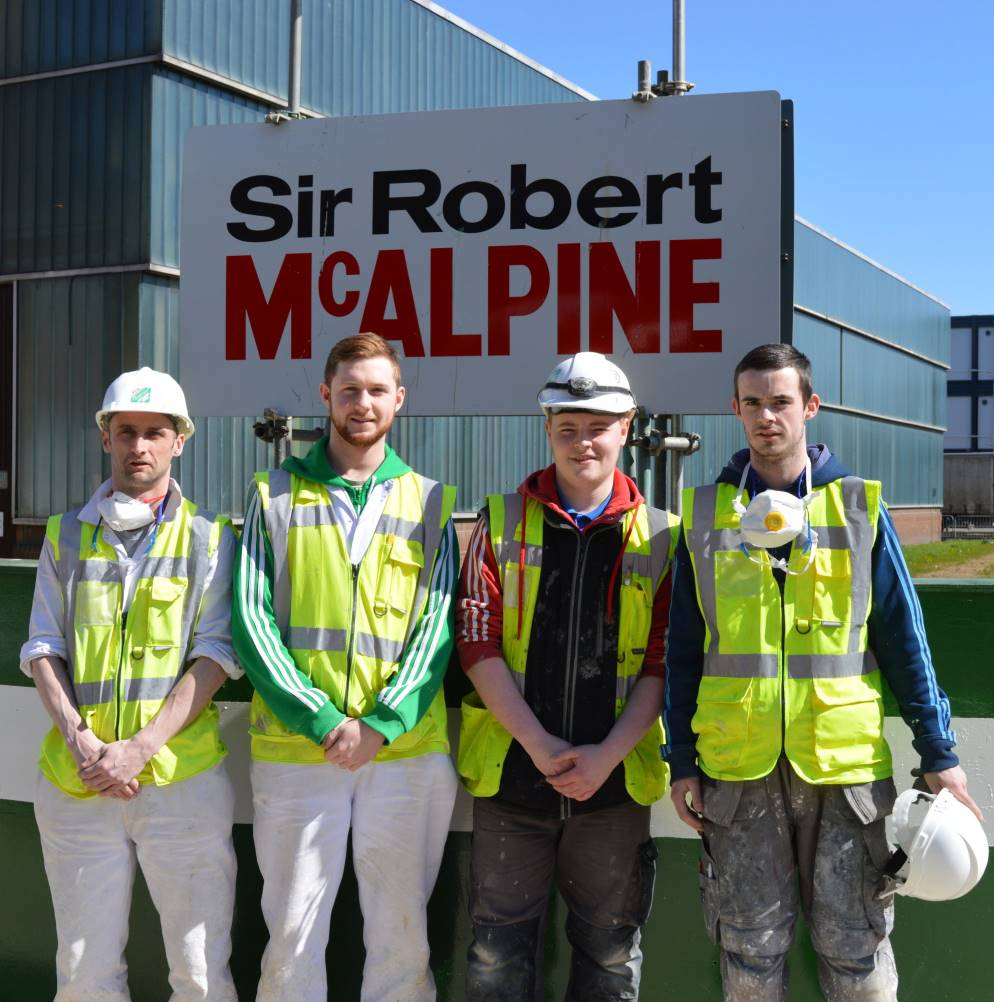 Local contractots at city of glasgow college site