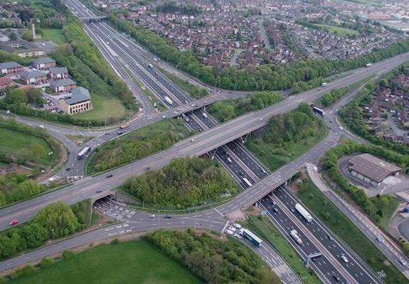 Aerial of the M1 Widening