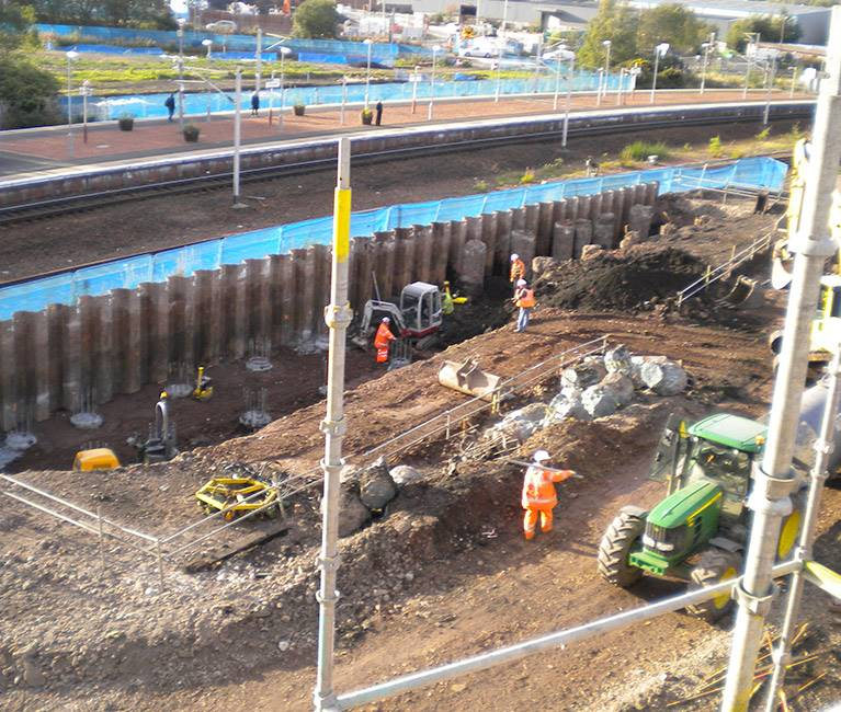 Progress at the M74 Completion site
