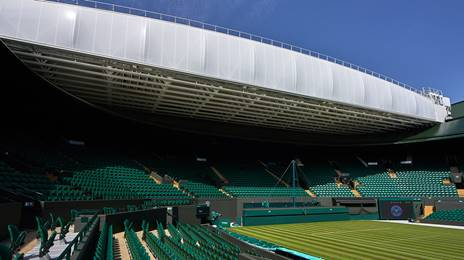 View of retractable roof at No 1 Court Wimbledon