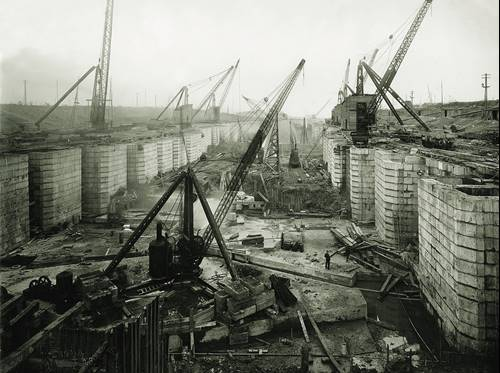 construction works at Tilbury Dock