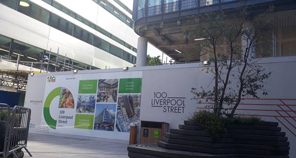 100 Liverpool Street 150th Anniversary hoarding panel
