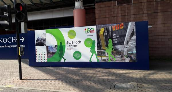 St Enoch Centre, Glasgow 150th Anniversary hoarding panel