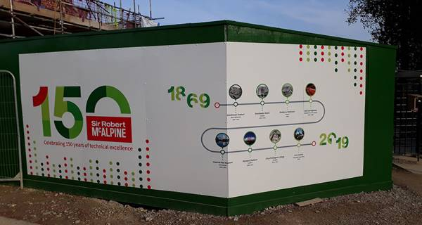 Ravenswick Hall 150th Anniversary hoarding panel