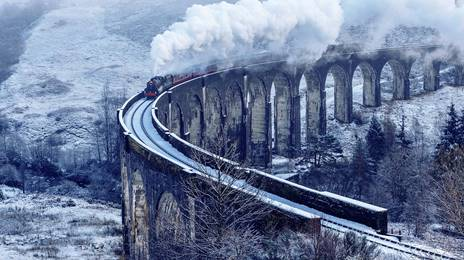 Glenfinnan Viaduct in the winter