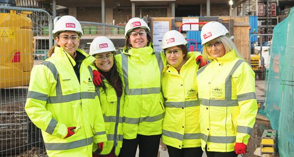 Female colleagues onsite at Battersea Phase 3