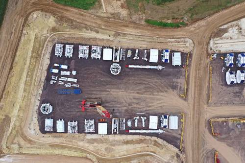 Aerial above our Align JV site at Chiltern tunnel